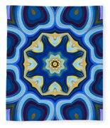Whorl Kaleidoscope Fleece Blanket