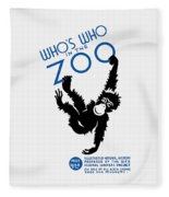 Who's Who In The Zoo - Wpa Fleece Blanket