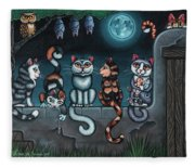 Whos Your Daddy Cat Painting Fleece Blanket