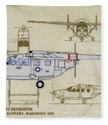 Wi Ang Skymaster Profile Fleece Blanket