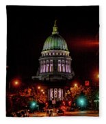 Wi State Capitol From West Washington Ave Fleece Blanket