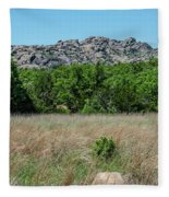 Wichita Mountains Wildlife Refuge - Oklahoma Fleece Blanket