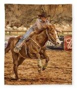 Wickenburg Senior Pro Rodeo Barrel Racing Fleece Blanket