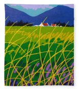 Wicklow Meadow Ireland Fleece Blanket