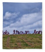 Wide Brown Land - Canberra - Australia Fleece Blanket