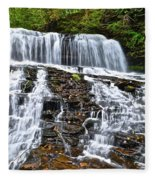 Wide Flowing Falls Fleece Blanket