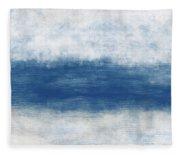 Wide Open Ocean- Art By Linda Woods Fleece Blanket