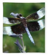 Widow Skimmer Dragonfly Fleece Blanket