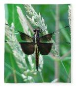 Widow Skimmer Dragonfly Fleece Blanket