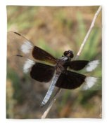 Widow Skimmer Dragonfly Male Fleece Blanket