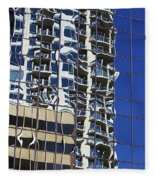 Wiggly Balconies Fleece Blanket