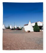 Wigwam Motel #2 Fleece Blanket
