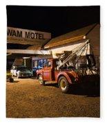 Wigwam Motel #3 Fleece Blanket