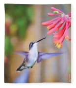 Wild Birds - Hummingbird Art Fleece Blanket