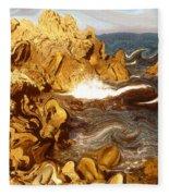 Wild California Coast - Modern Art Fleece Blanket