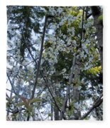 Wild Cherry Tree Blossoms On Verona Fleece Blanket