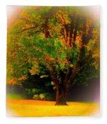 Wild Cherry Tree In Summer Sun Fleece Blanket
