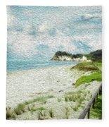 Wild Coastline Fleece Blanket