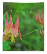 Wild Columbine Fleece Blanket