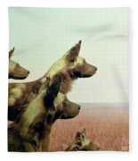 Wild Dog Fleece Blanket