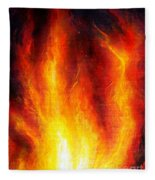 Wild Fire 04 Fleece Blanket