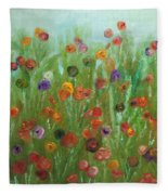 Wild Flowers Abstract Fleece Blanket