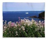 Wild Flowers And Iceberg Fleece Blanket