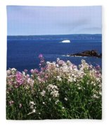 Wild Flowers And Iceberg Fleece Blanket