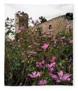 Wild Flowers At The Old Fortress Fleece Blanket