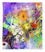 Wild Flowers Bouquet 02 Fleece Blanket