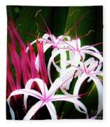 Wild Flowers In Hawaii Fleece Blanket
