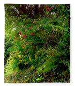 Wild Flowers On The Cliff Path Fleece Blanket