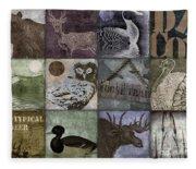 Wild Game Patchwork II Fleece Blanket