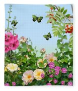 Wild Garden Fleece Blanket