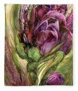 Wild Garden Tulips Fleece Blanket
