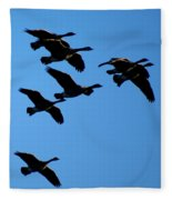 Wild Geese In The West Fleece Blanket
