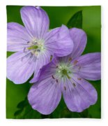 Wild Geranium Fleece Blanket