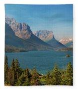 Wild Goose Island - Glacier National Park Fleece Blanket