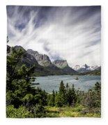 Wild Goose Island Glacier Park 2 Fleece Blanket