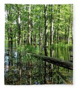 Wild Goose Woods Pond II Fleece Blanket