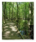 Wild Goose Woods Pond Vi Fleece Blanket