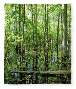 Wild Goose Woods Pond Vii Fleece Blanket