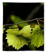 Wild Grape Leaves Fleece Blanket