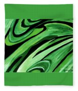 Wild Green Fleece Blanket
