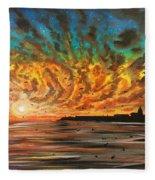 Wild Hearted Sun - Santa Cruz Fleece Blanket