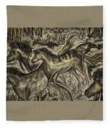 Wild Horse Cavern Fleece Blanket