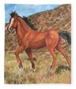 Wild Horse In Virginia City, Nevada Fleece Blanket