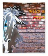 Wild Horses For Sale Fleece Blanket