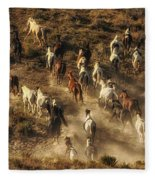 Wild Horses Gone Wild Fleece Blanket