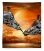 Wild Kisses Fleece Blanket